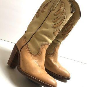 Frye Cowboy Boho Country Western Boots Womens 8 💛